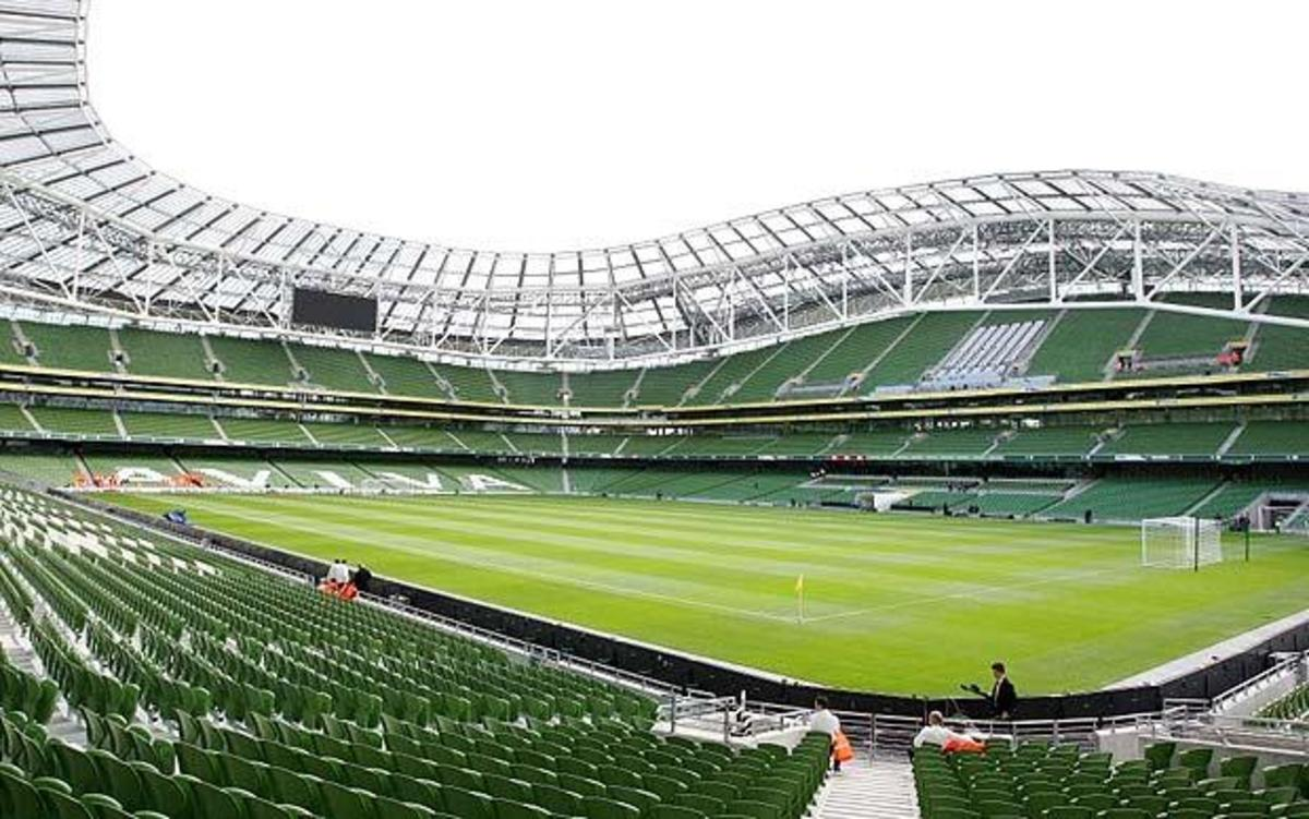 The newest stadium on the Six Nations circuit - the Aviva Stadium (formerly Lansdowne Road). Arguably the best looking of all the stadia, with a capacity of 50,000
