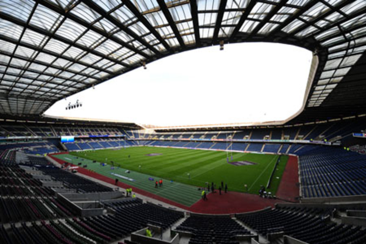 Recently reduced from a capacity of 67,800 to 67,130, this is Murrayfield, first opened in 1925