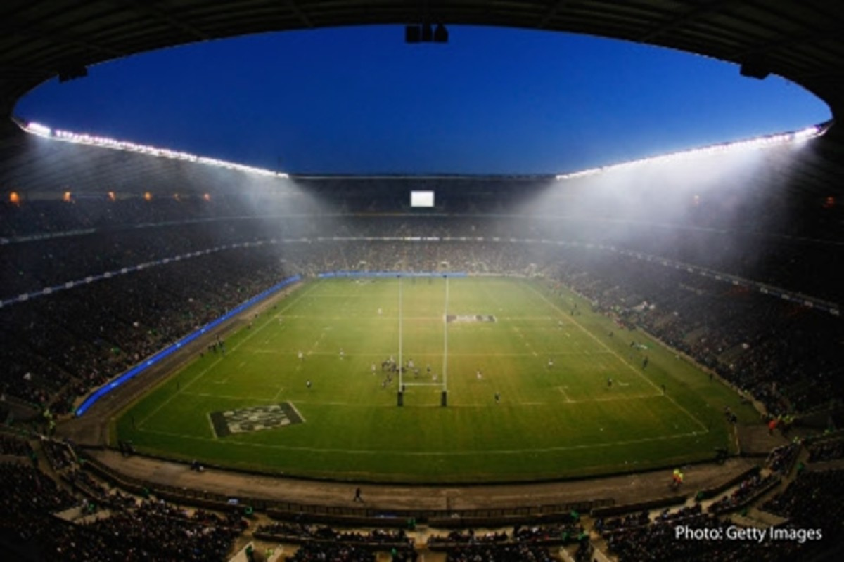 The largest dedicated rugby venue in the world, with a capacity of 82,000. This is Twickenham Stadium, the Home of the English National Rugby Team.