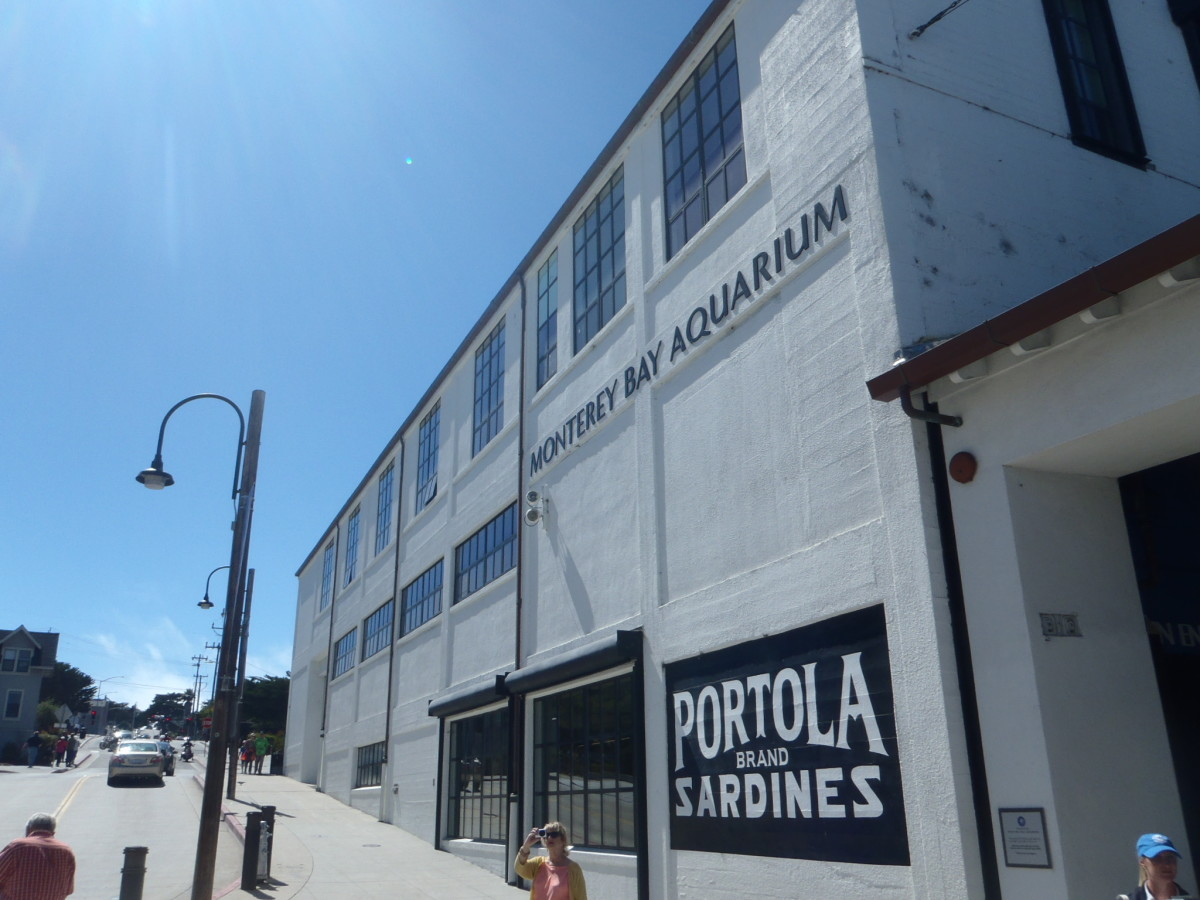 The famous Monterey Bay Aquarium at Cannery Row.