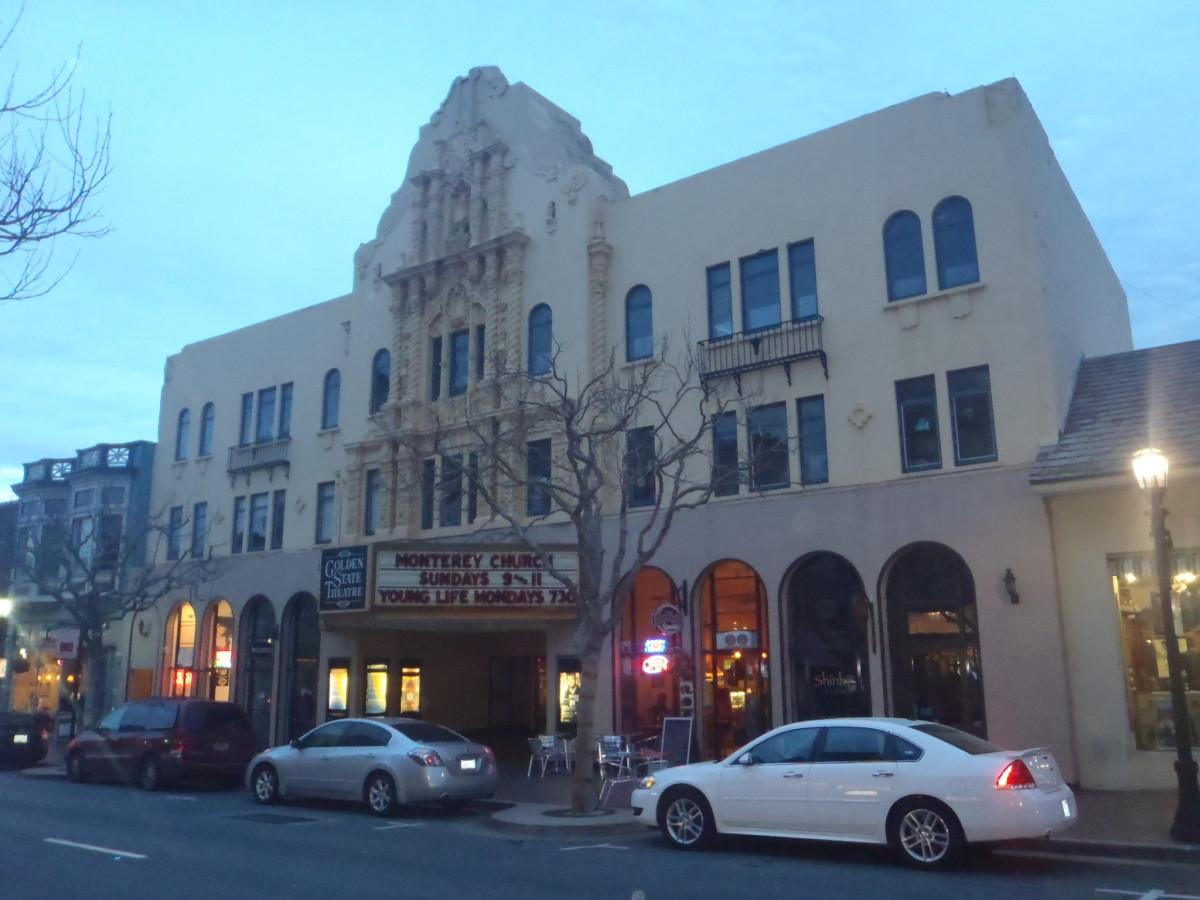 Eclectic architecture along Alvarado Street.