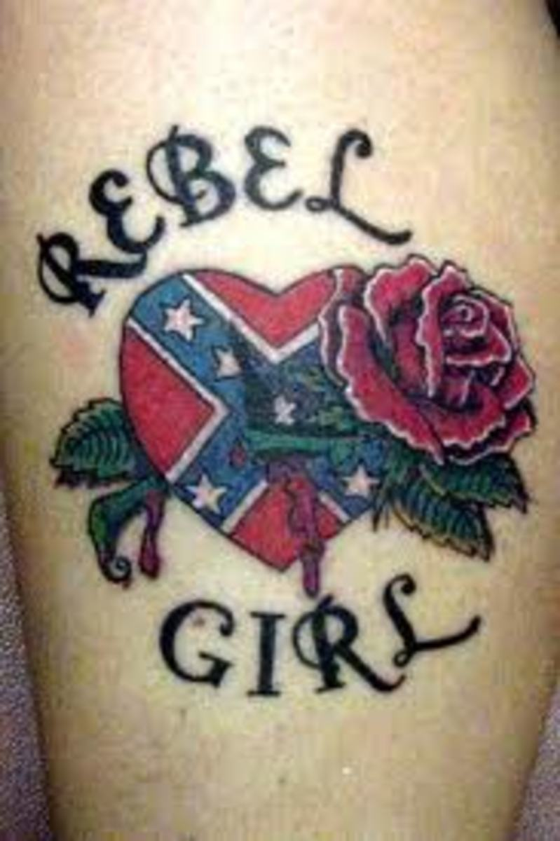 confederate flag tattoos and meanings. Black Bedroom Furniture Sets. Home Design Ideas