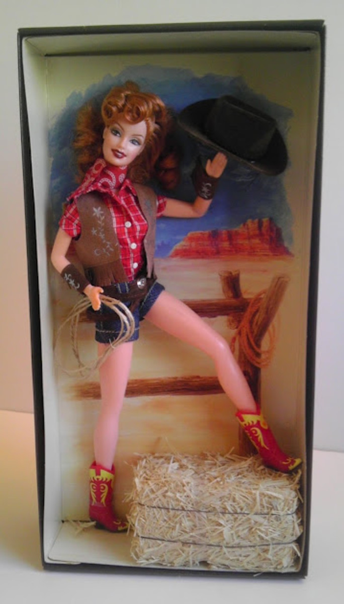 Way Out West Barbie, in box