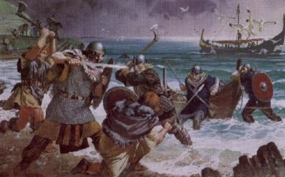 Someimes raiding parties were met with resistance on the shore. Where organised fyrd - or militia - organisation was met fleets grew to counter resistance