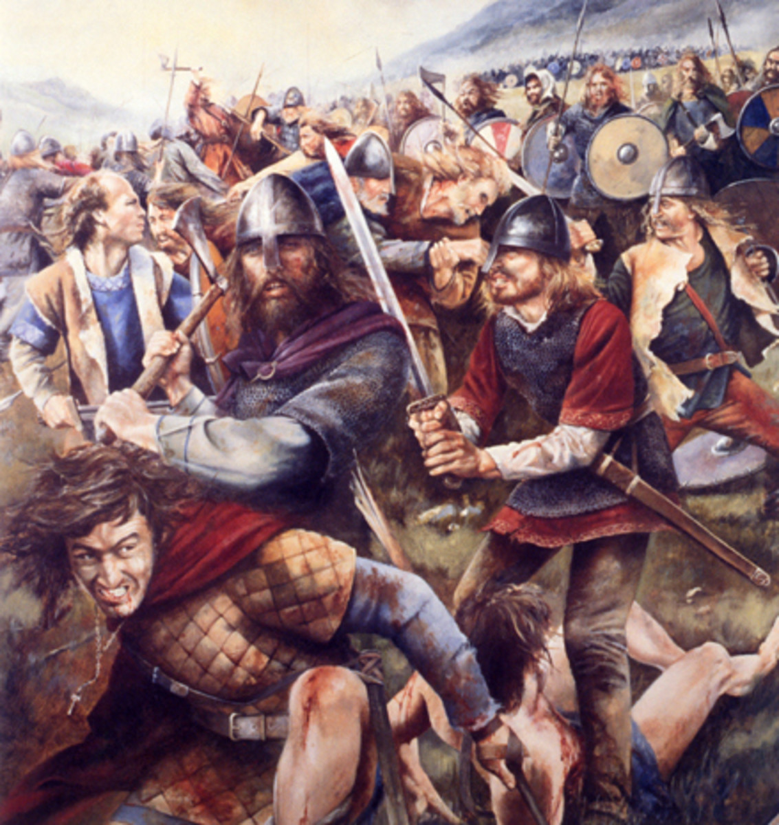 Battling Viking raiders - often fleets of three, four and more came raiding around the British Isles, sometimes based in Ireland, on Man or Orkney, always within easy reach