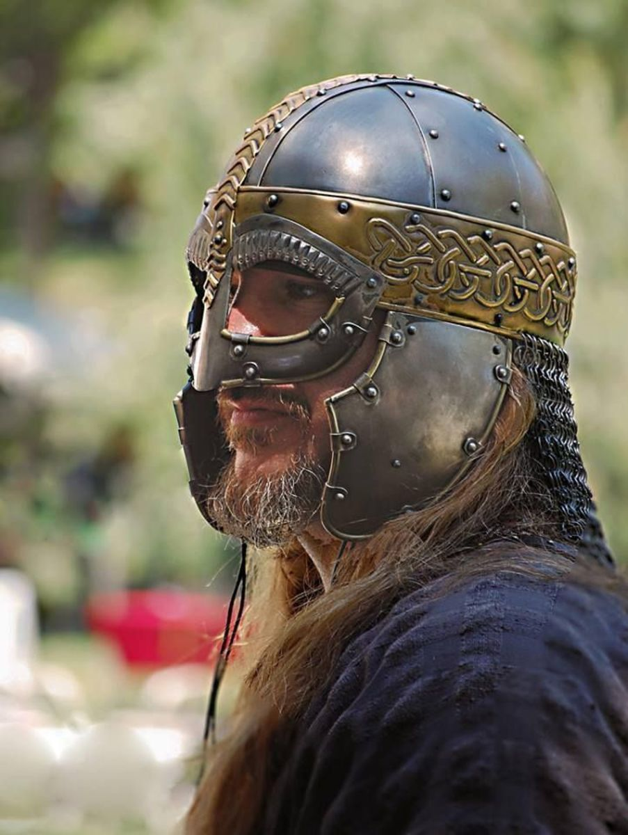 Another introduction by the Danes was the visored helmet with ear and neck guards - however only their kings and nobles could afford these luxury items