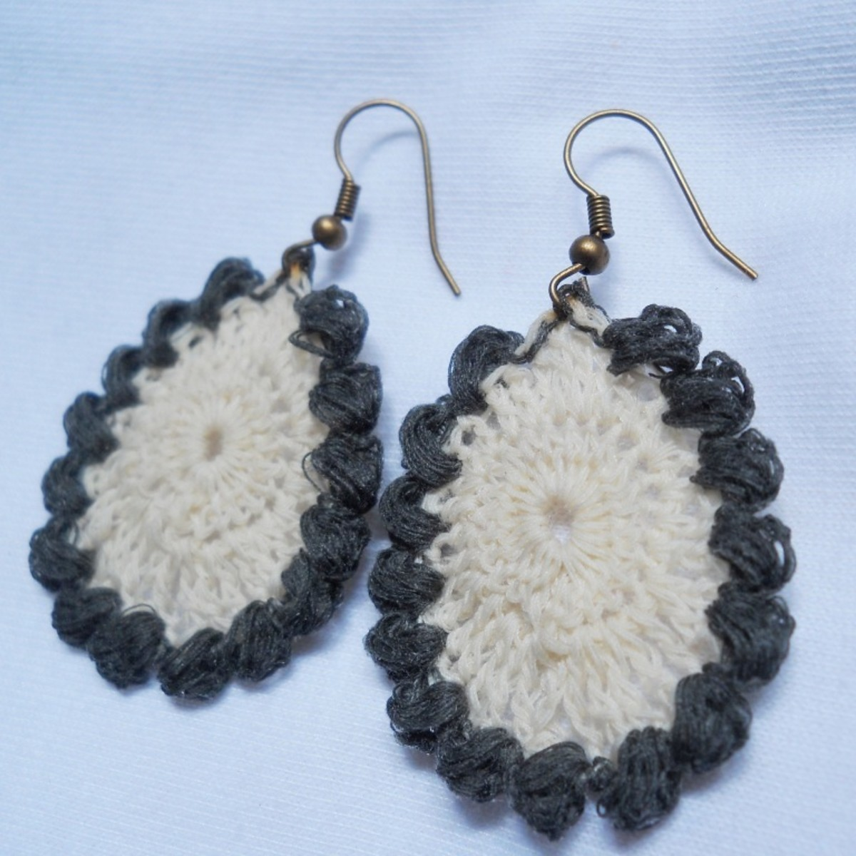 Crochet Teardrop Earring #2