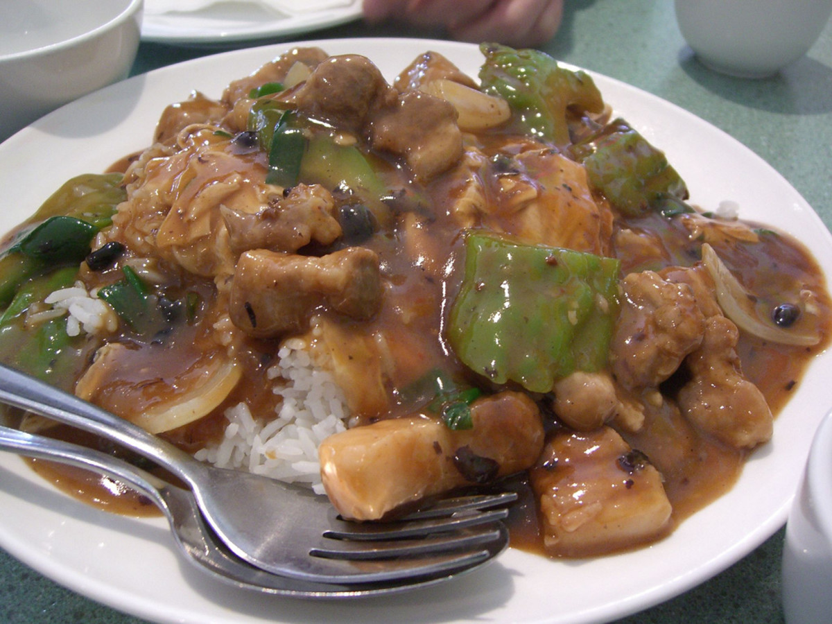 Bitter Gourd with Pork and Black Bean Sauce Stir-Fry