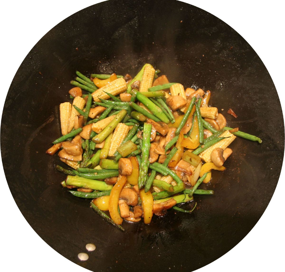 Chinese Stir-fried Snow Peas, Water Chestnuts and Bamboo Shoots