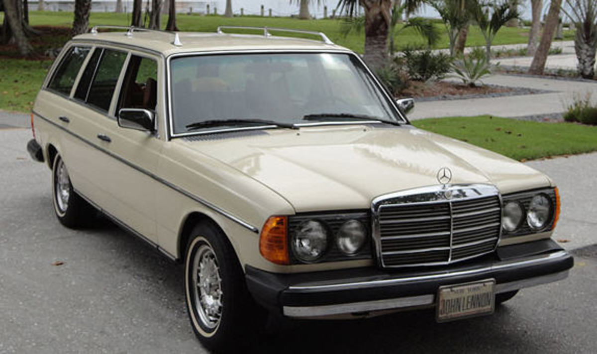 Johns last car, 79 Mercedes Benz