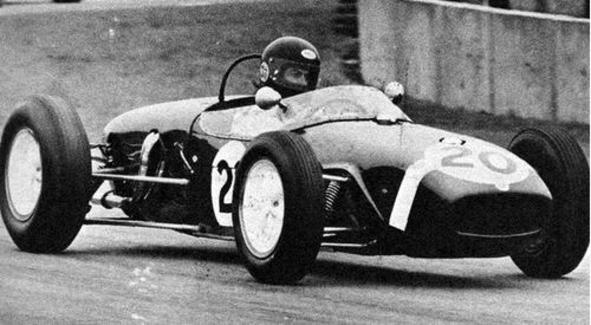 Harrison driving his F1 Formula