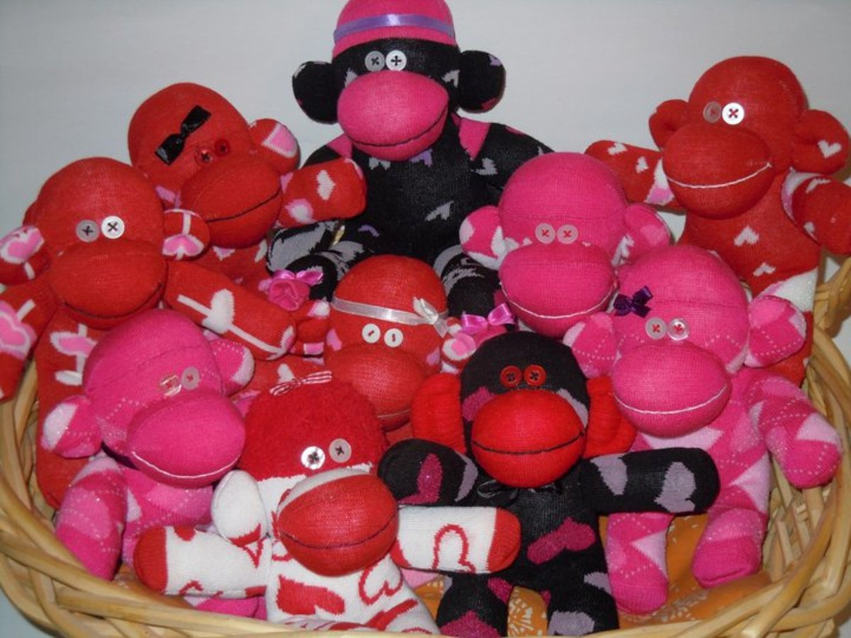 Sock Monkeys (small size) given-away to officemates for Valentines Day