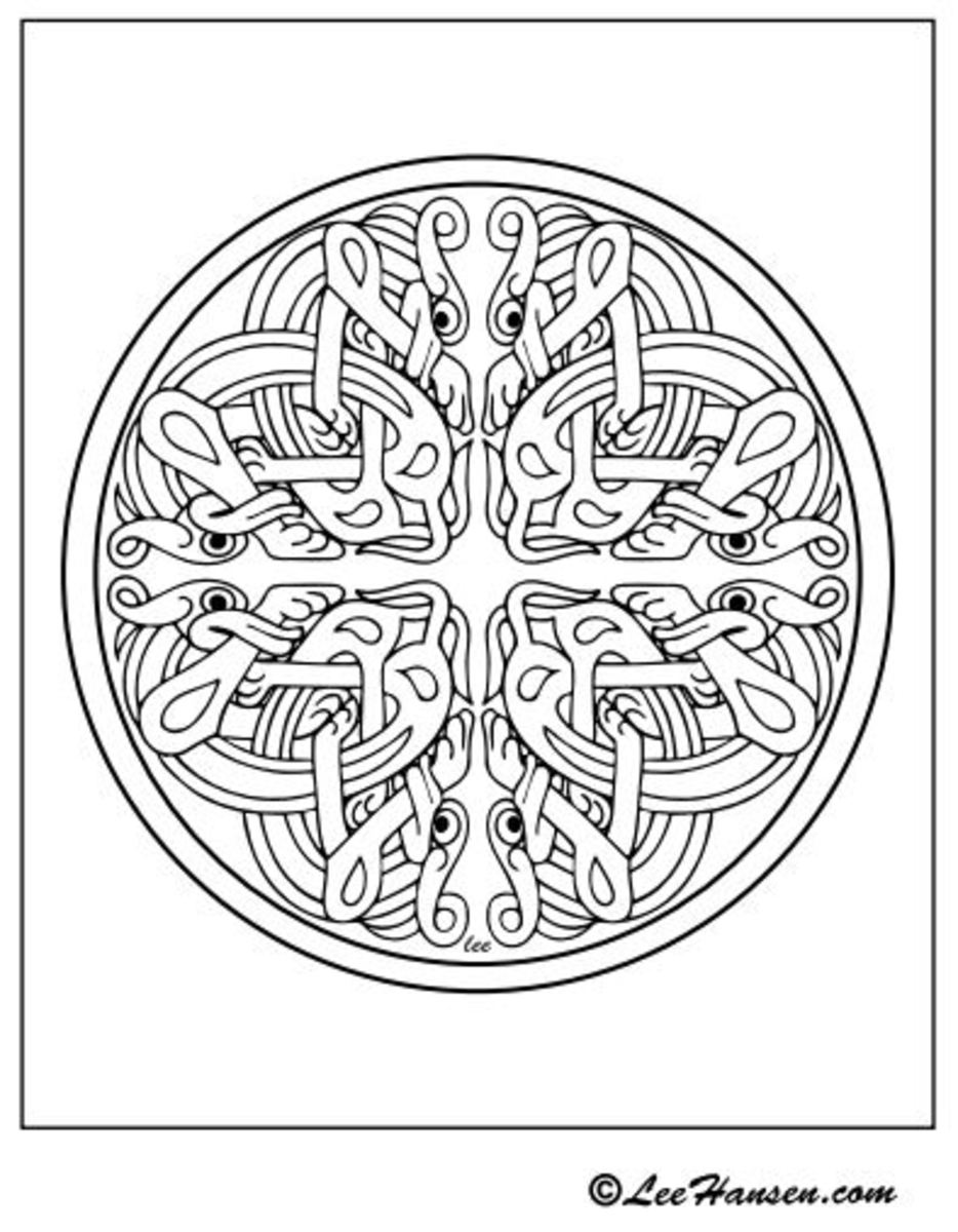 Detailed design pattern created from Celtic art