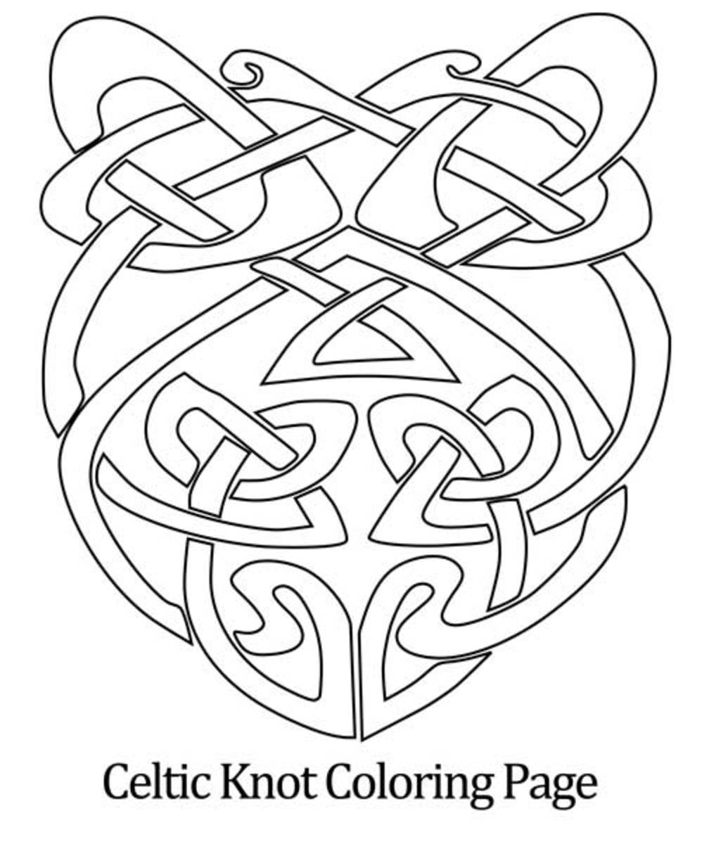 Celtic Knot Shield Pattern