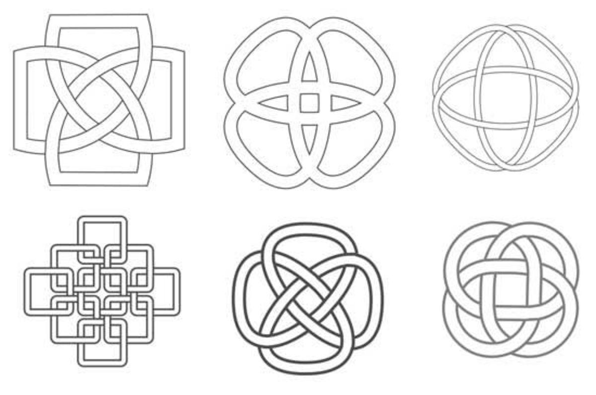 Samples of Celtic knot designs