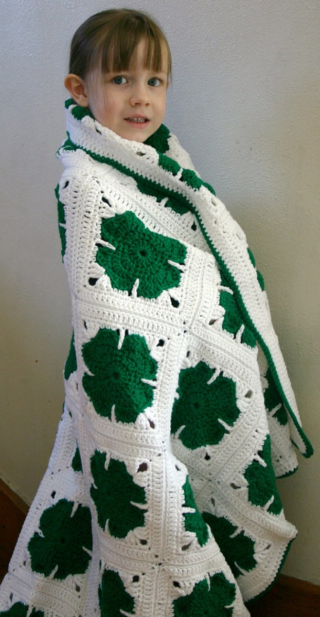 Four Leaf Clover Afghan Pattern