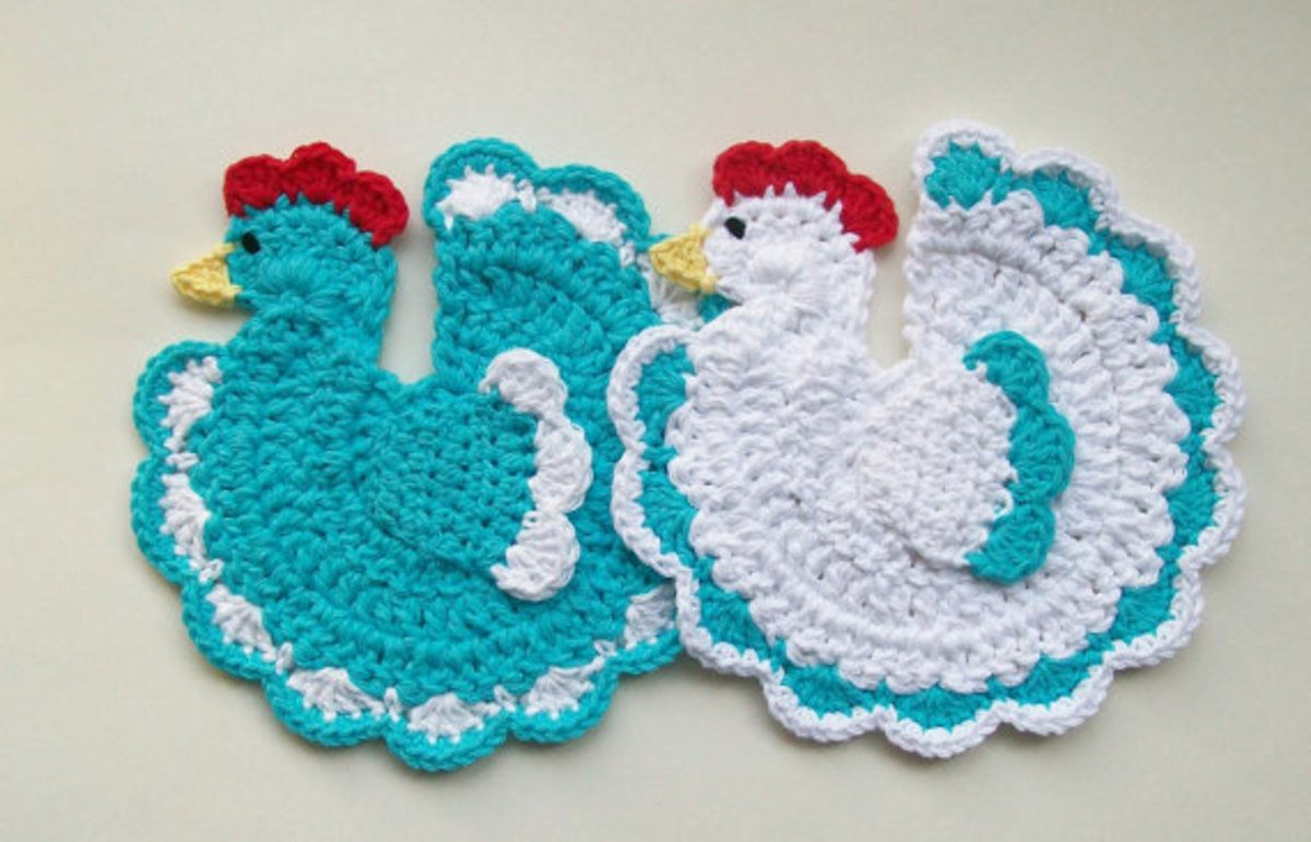Crocheted Chicken Potholders