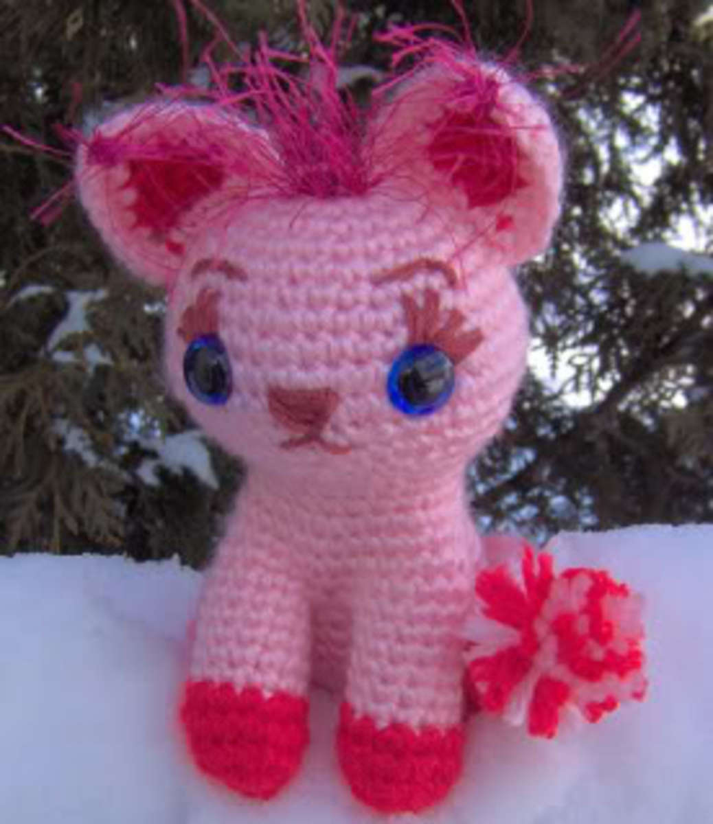 Cute Crocheted Kitty Pattern