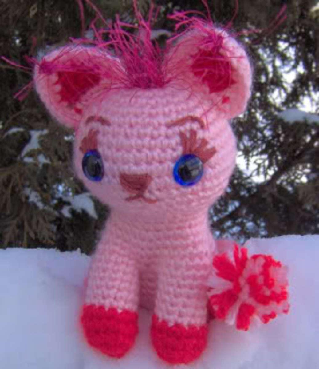 Cute Crocheted Kitty Pattern