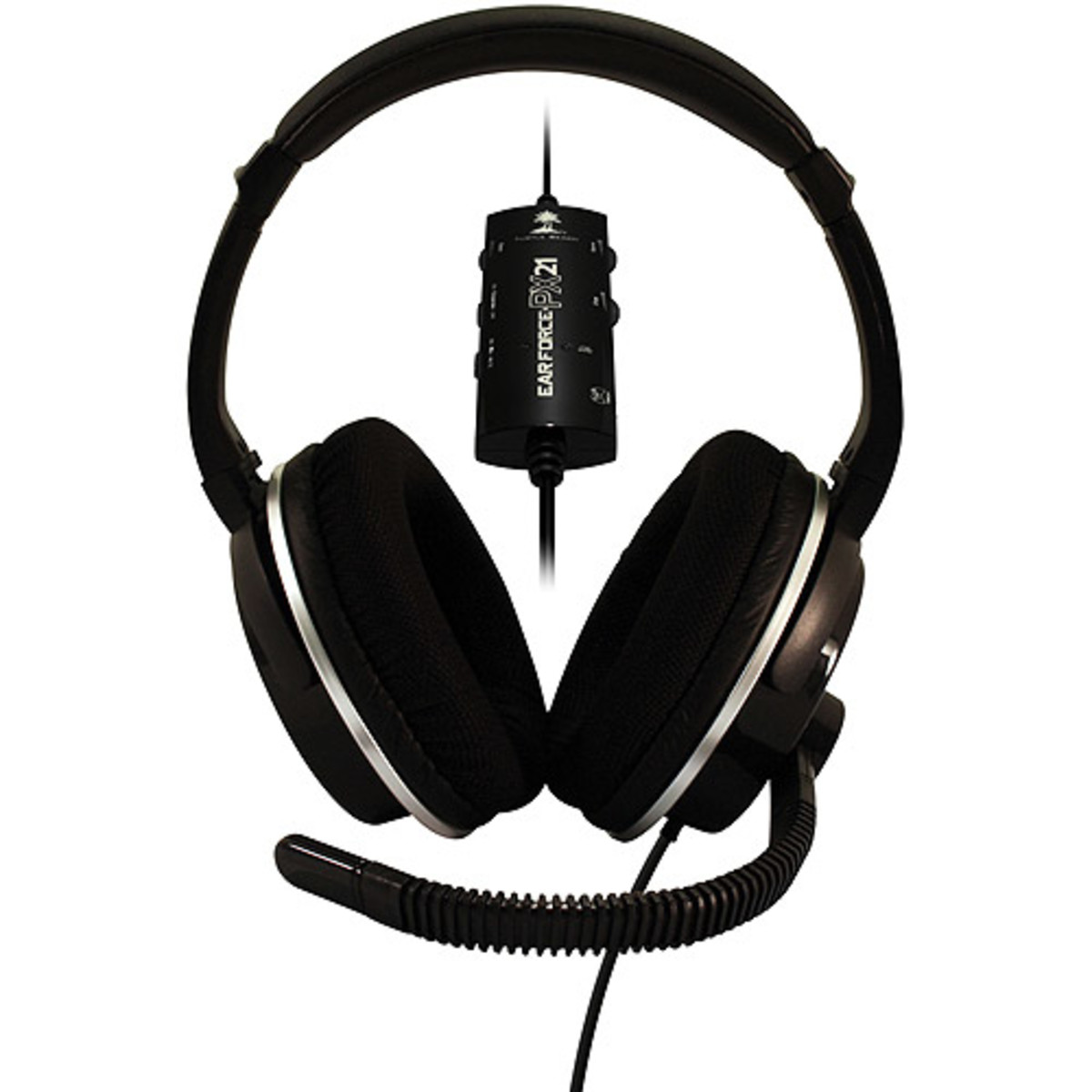 The Turtle Beach Ear Force PX21 headset can be used with the PS3, Xbox 360 or a PC.