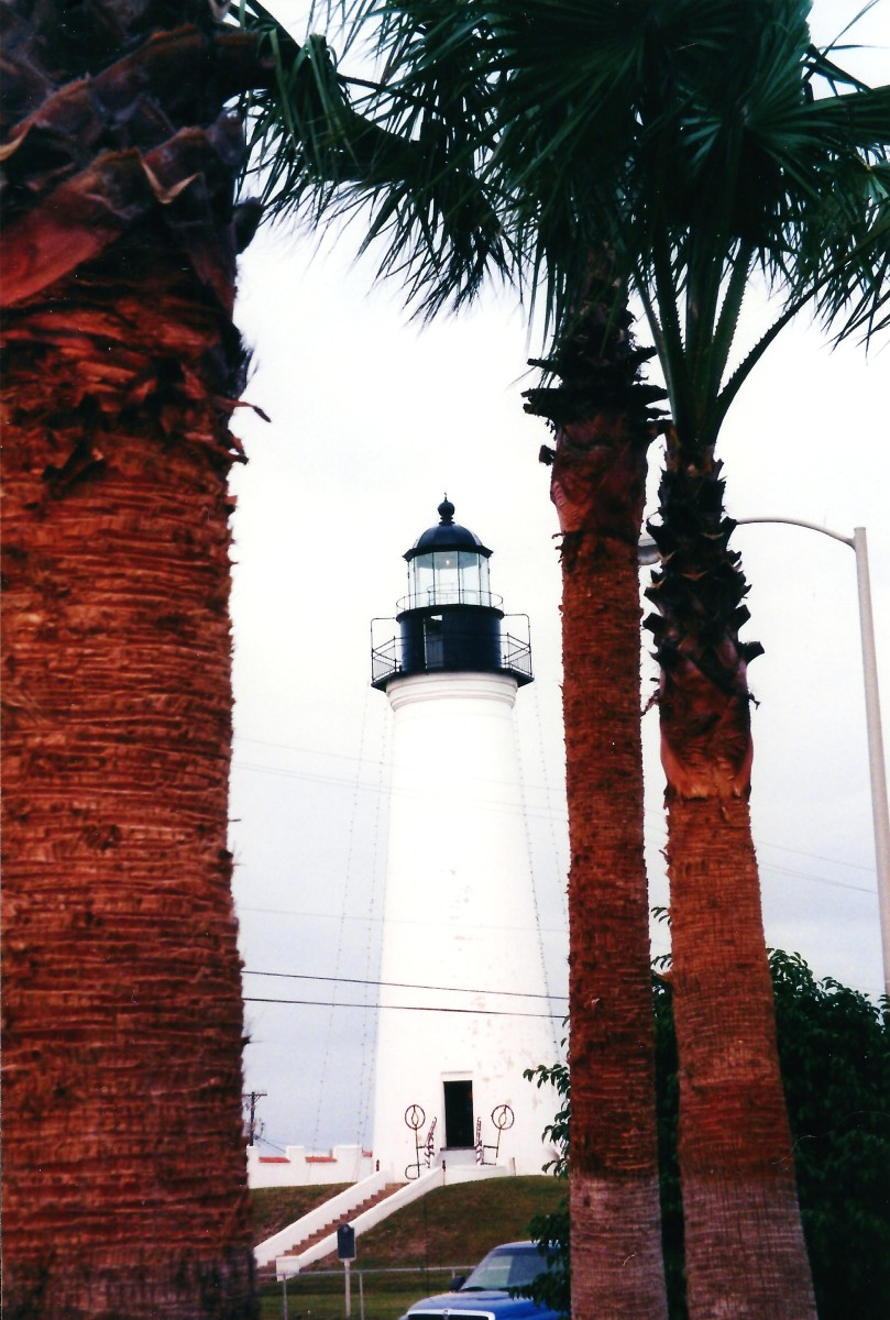 Port Isabel Lighthouse With Vintage South Padre Island Pictures From the 1960s