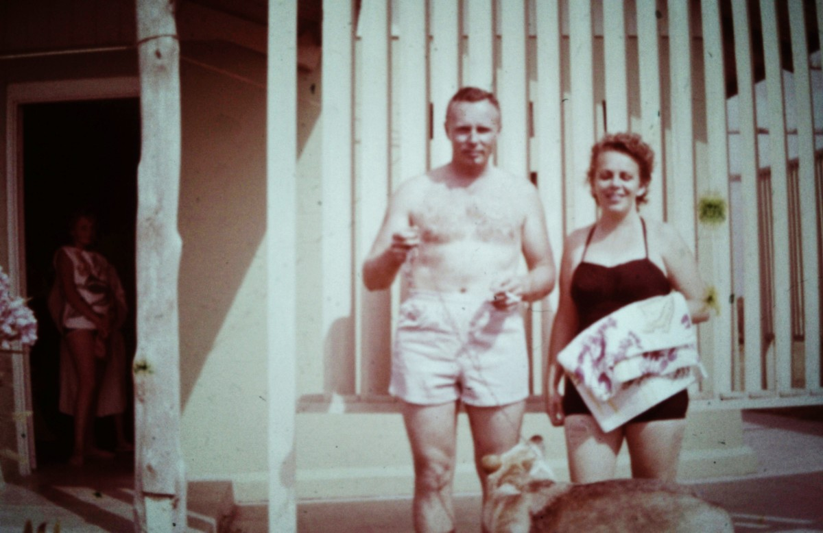 My parents and German Shephard, Sheba
