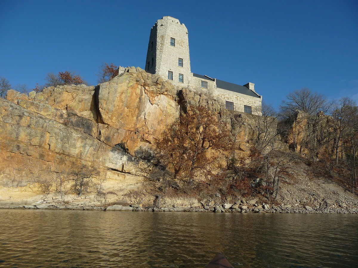 View of Tucker Tower from a boat