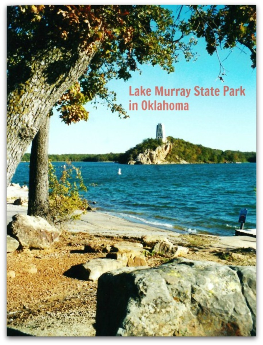 Lake Murray Resort Park with Tucker Tower shown in the distance.