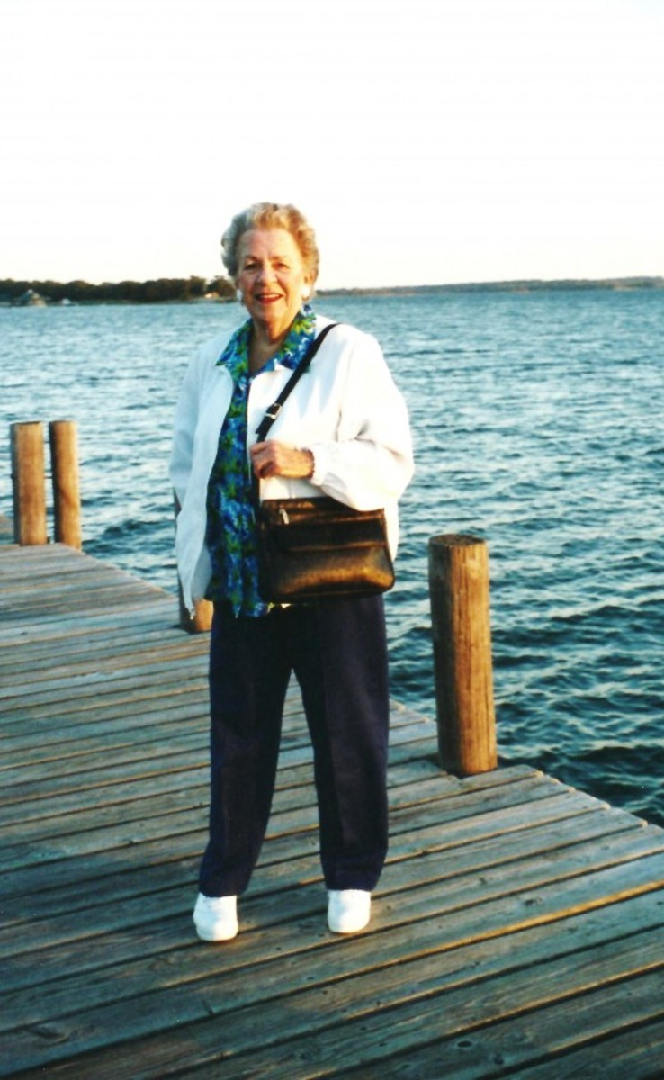 My sweet mother at Lake Murray in Oklahoma