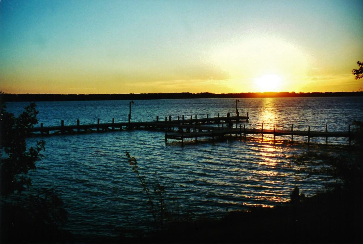 Sunrise over Lake Murray Resort Park