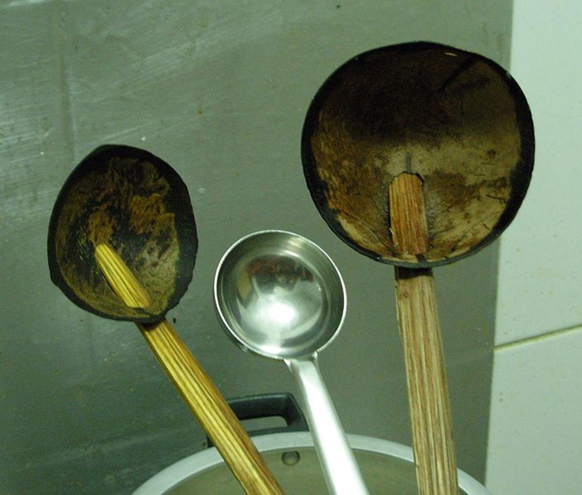 coconut spoons