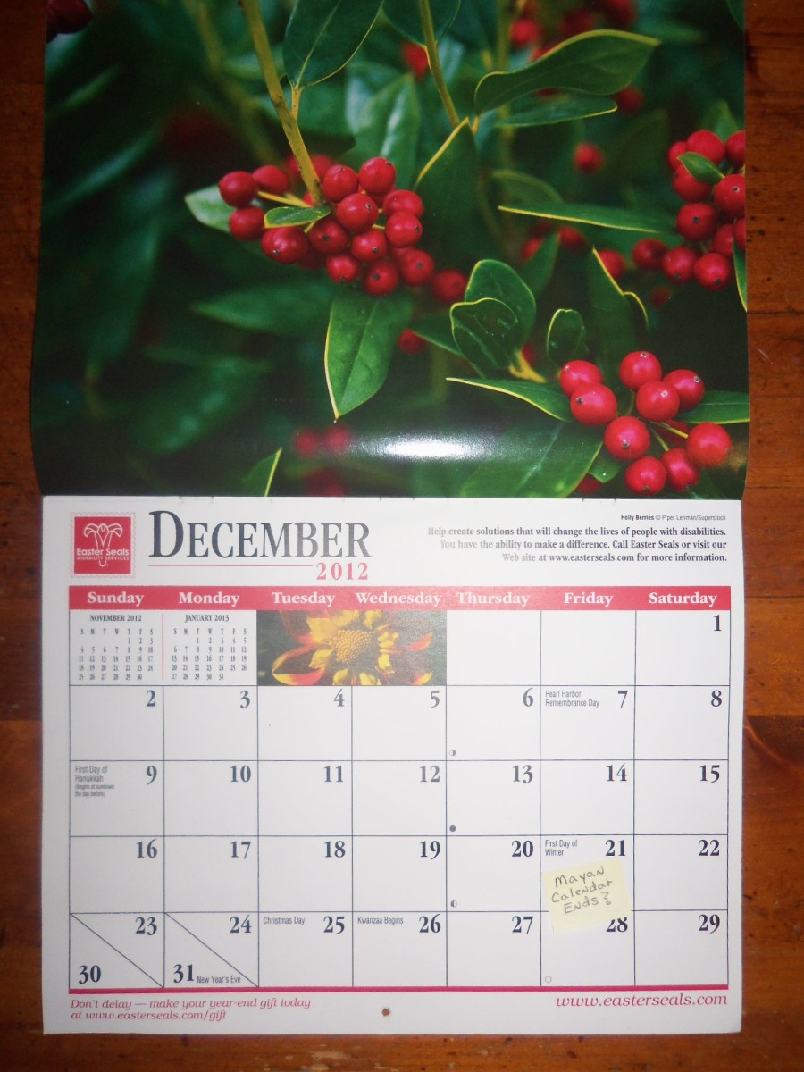 The End Of The Mayan Calendar December 21st