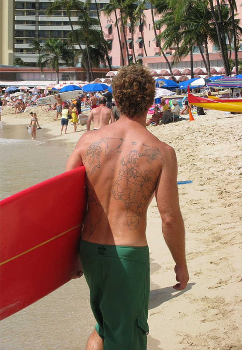 the coolest travel tattoos wanderlust inspired tats