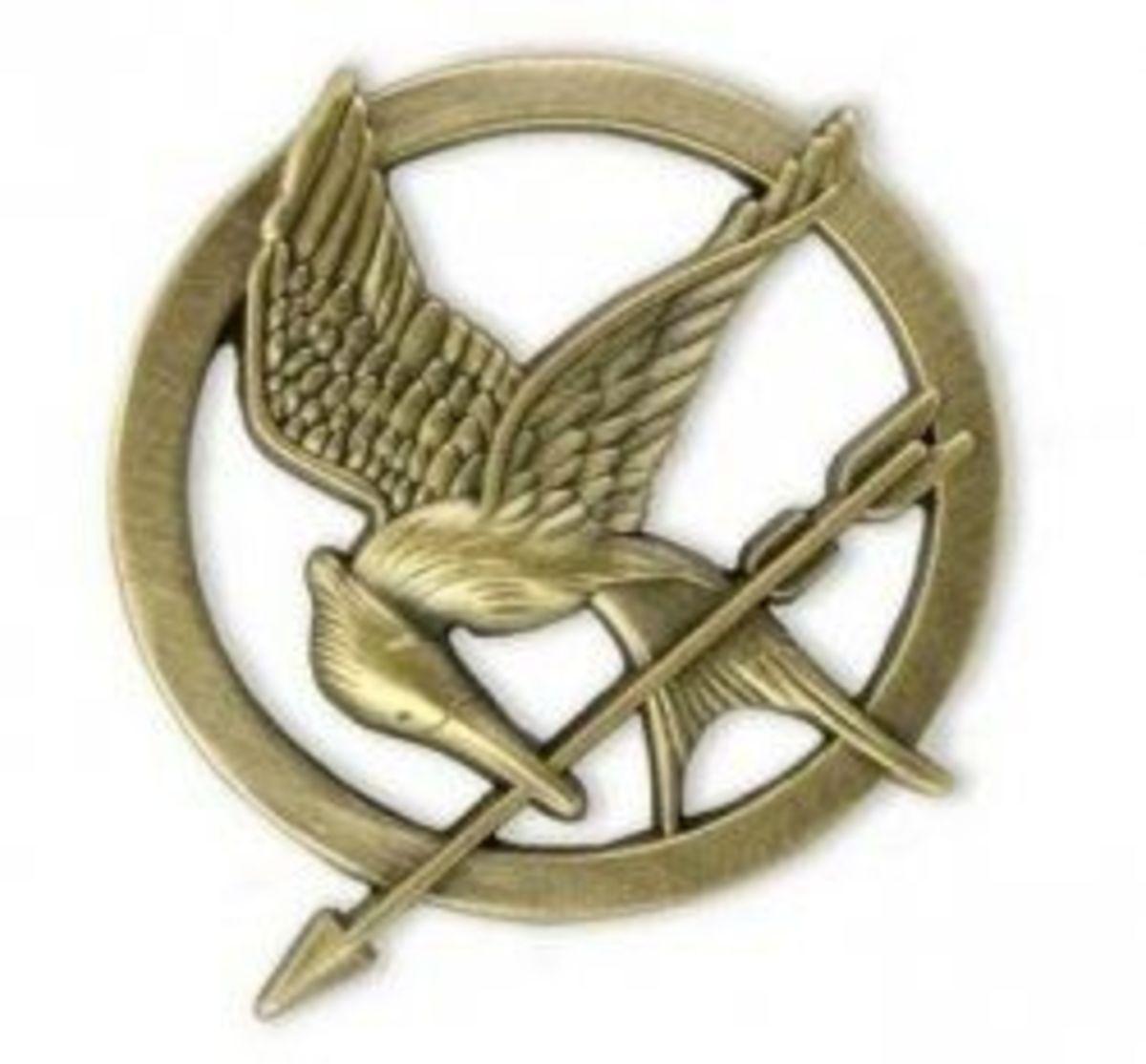 A Mockingjay pin
