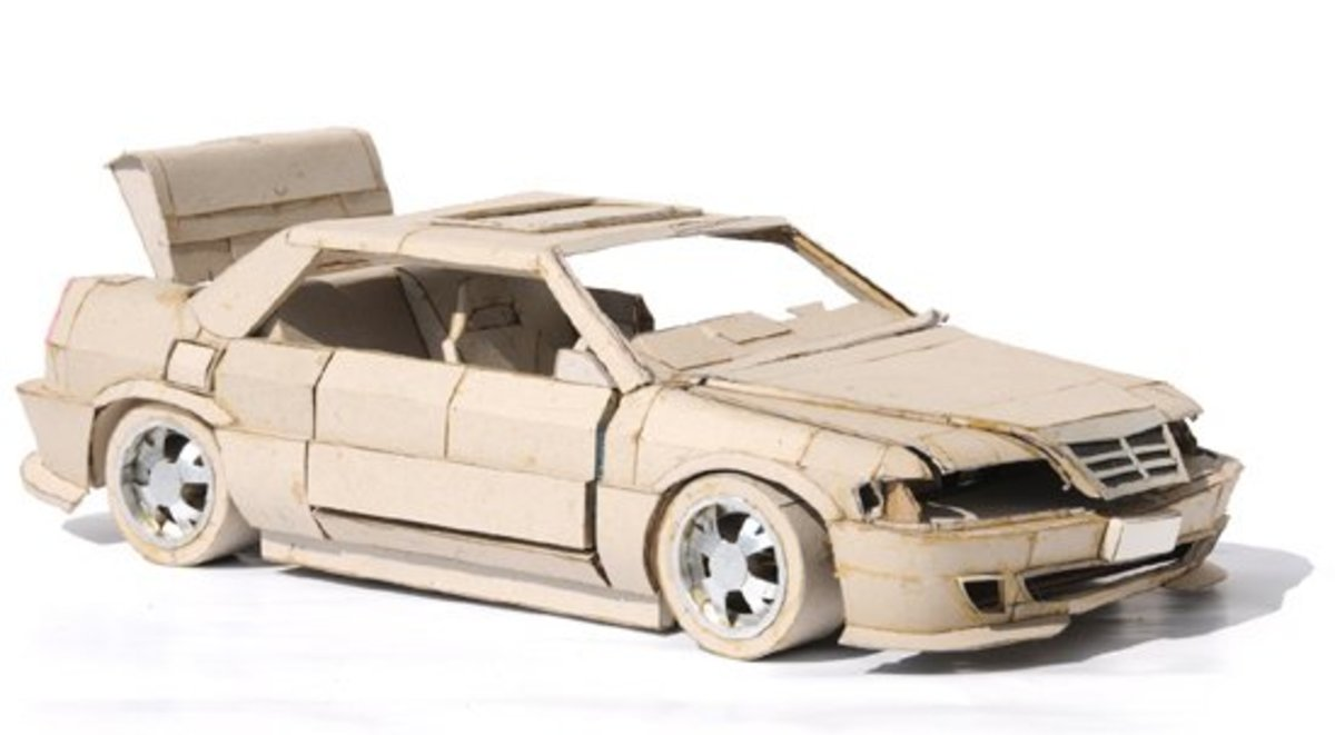 How To make Cardboard Toy Car - Cardboard Craft Activities