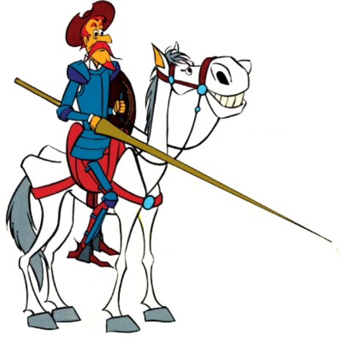 Don Quixote and his steed  Rocinante