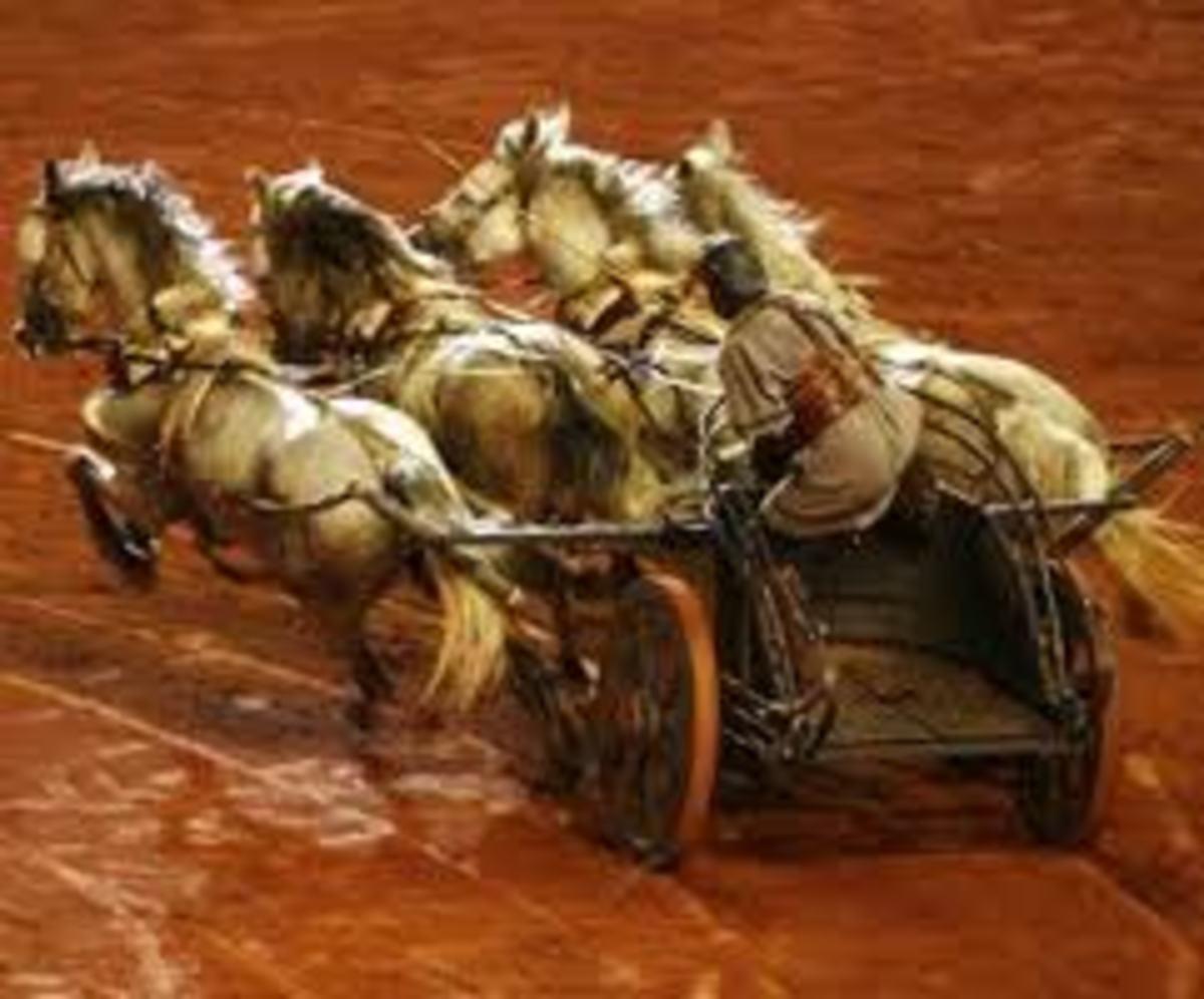 Ben Hur chariot with 4 Horsepower
