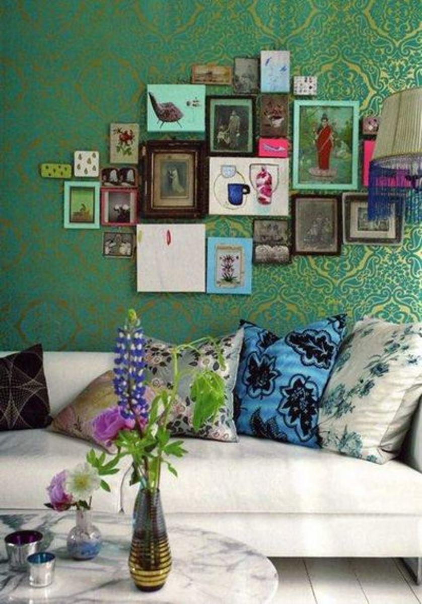 bohemian styled living room