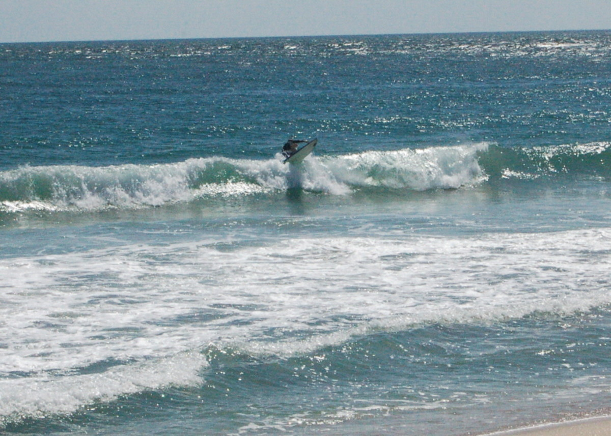 Surf competition on Sebastian Inlet