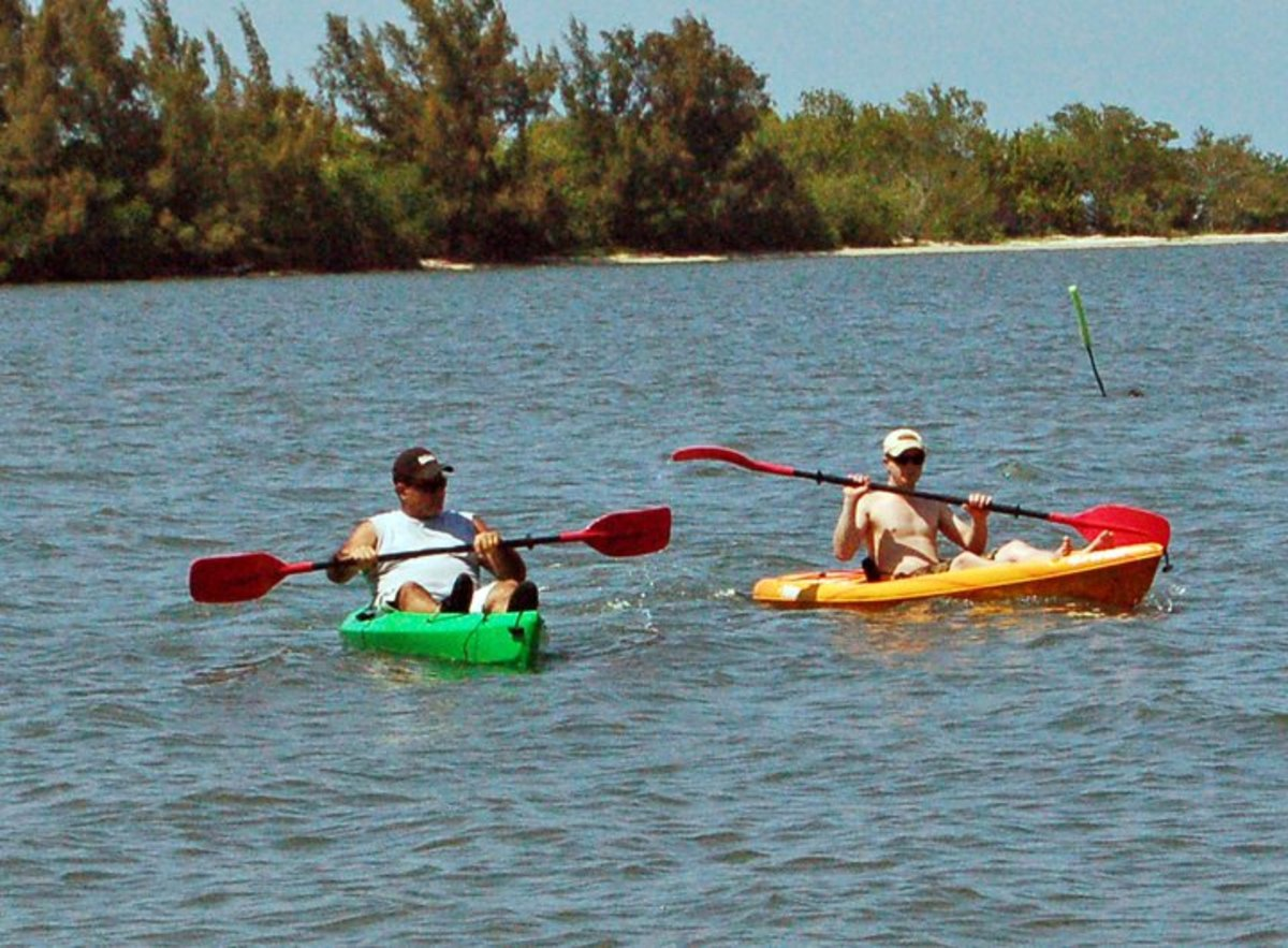 kayaking on the Indian River