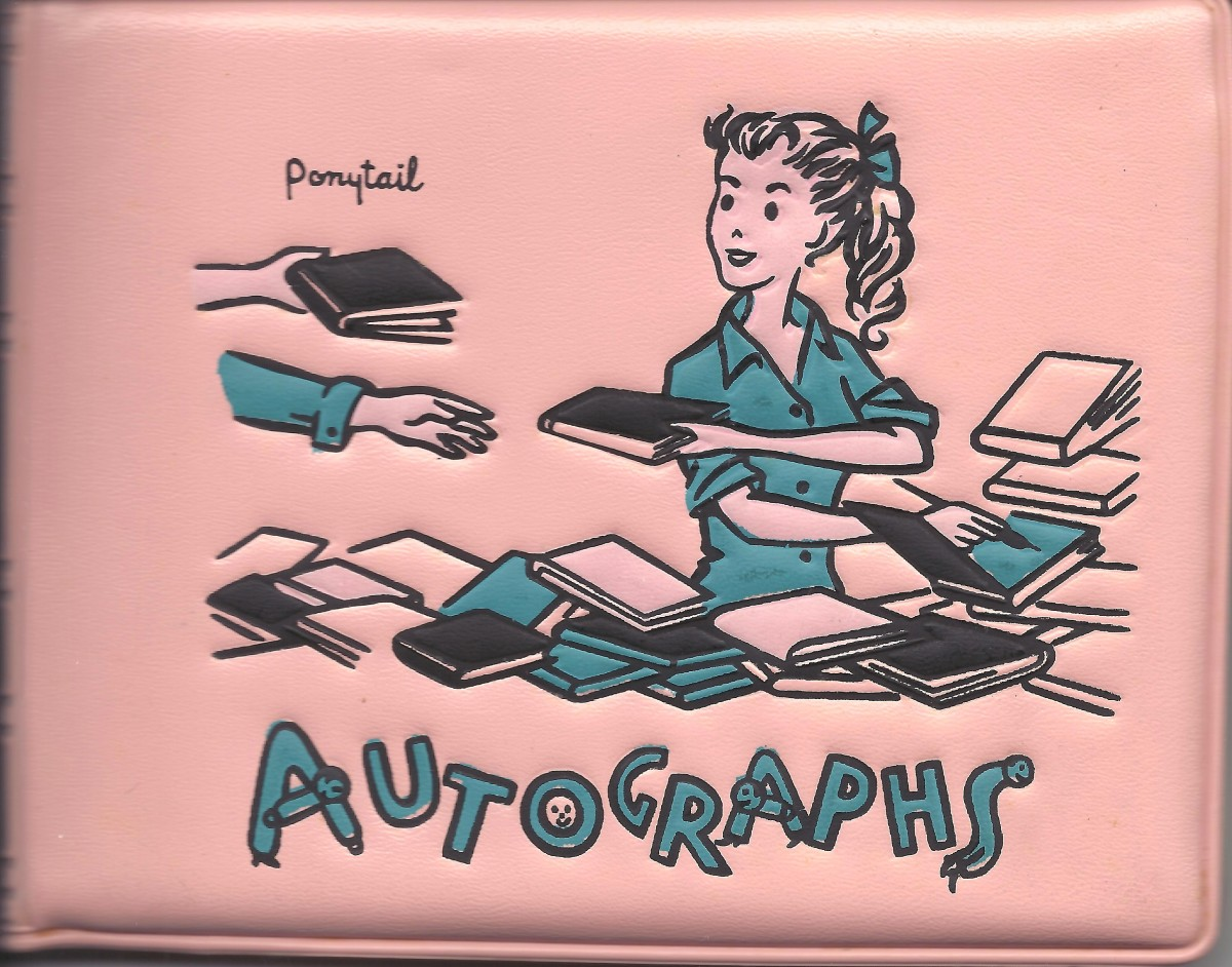 My vinyl autograph book from the 1950s