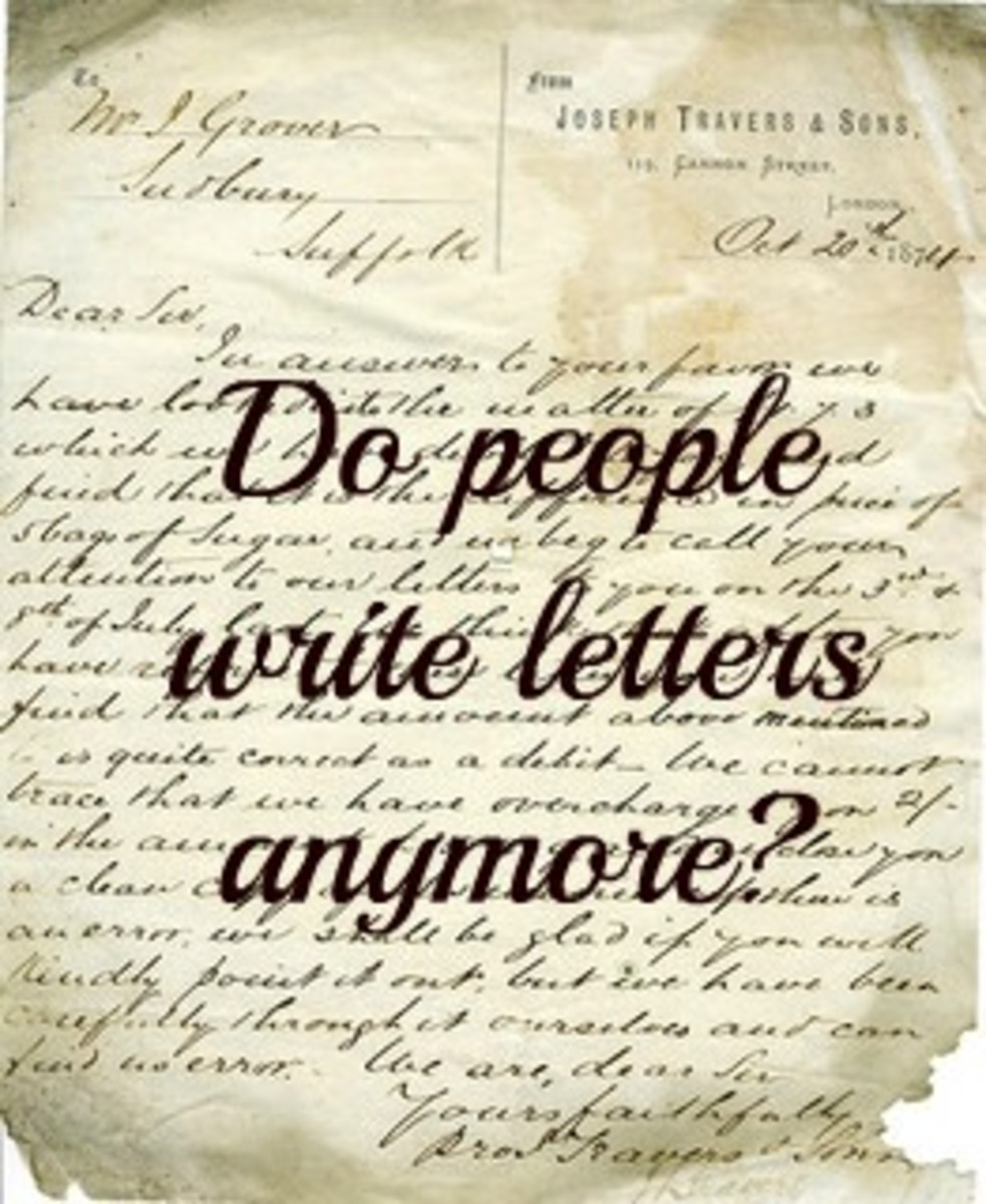 Old Fashioned Letter Writing. Do People Write Letters Anymore?