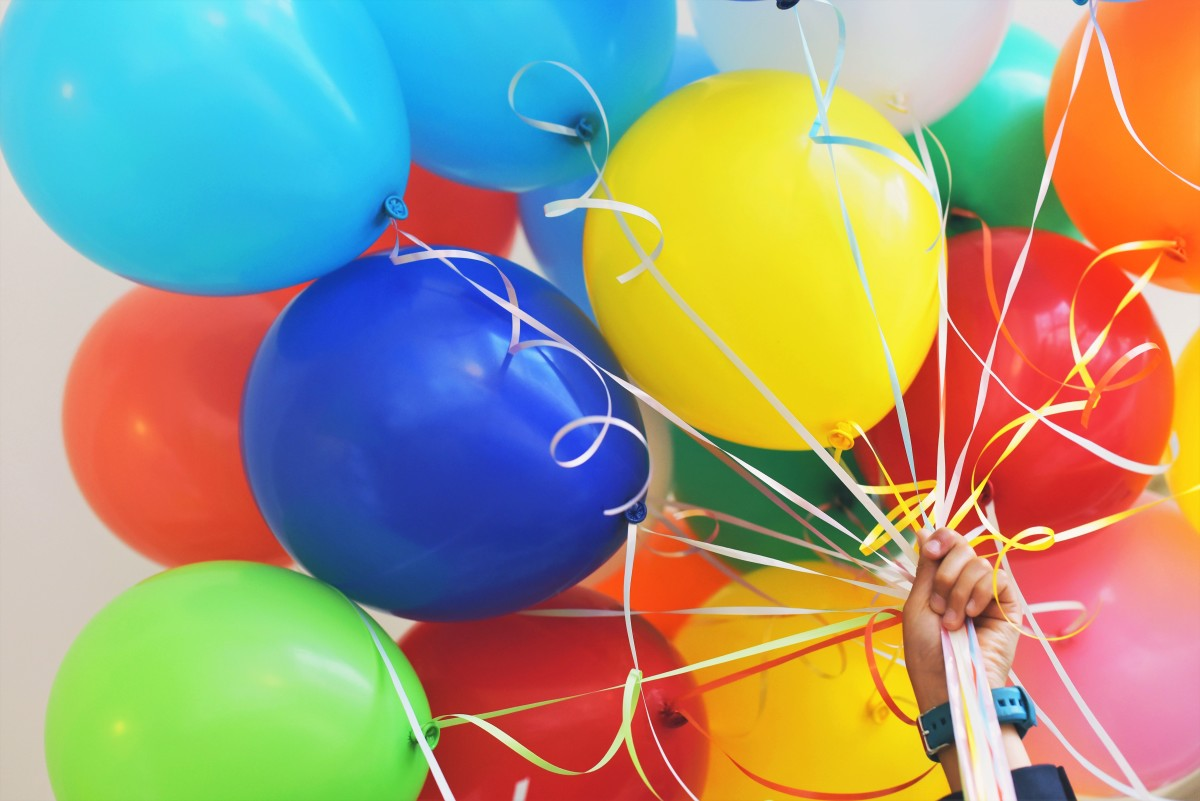 Balloons are fun, but someone with a latex allergy should check what the balloons are made of before they touch them.