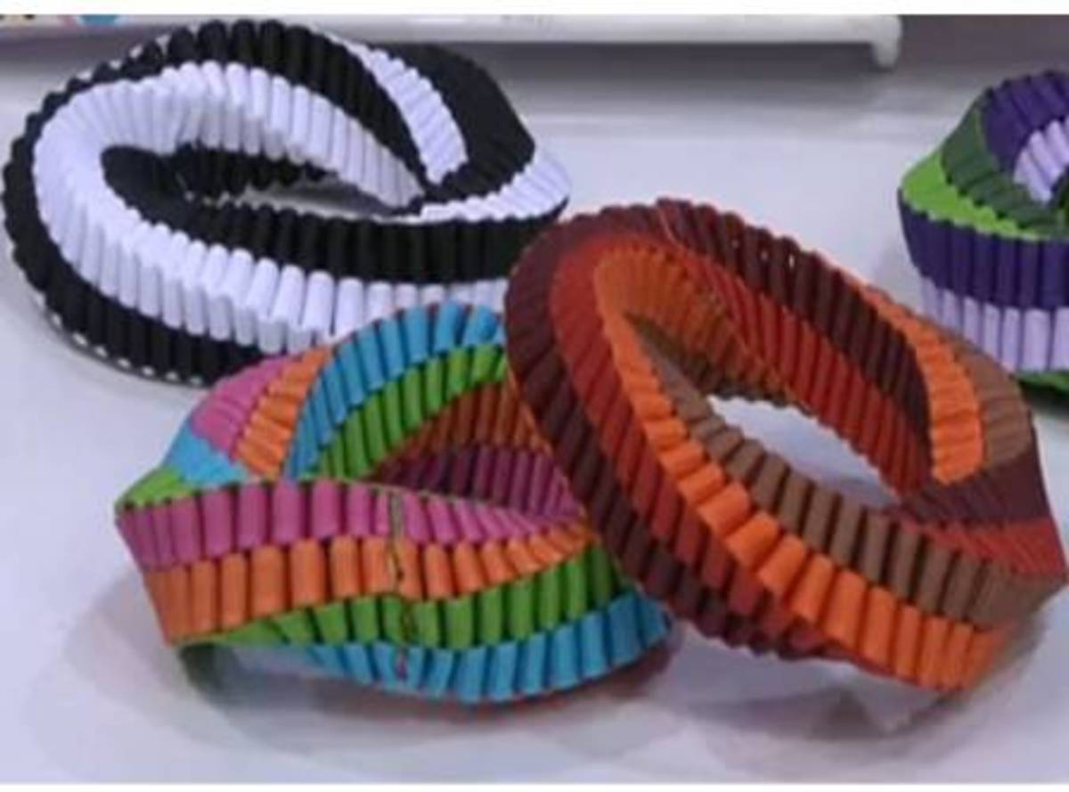 Boxed Stitch Bracelets - colorful & stretchy