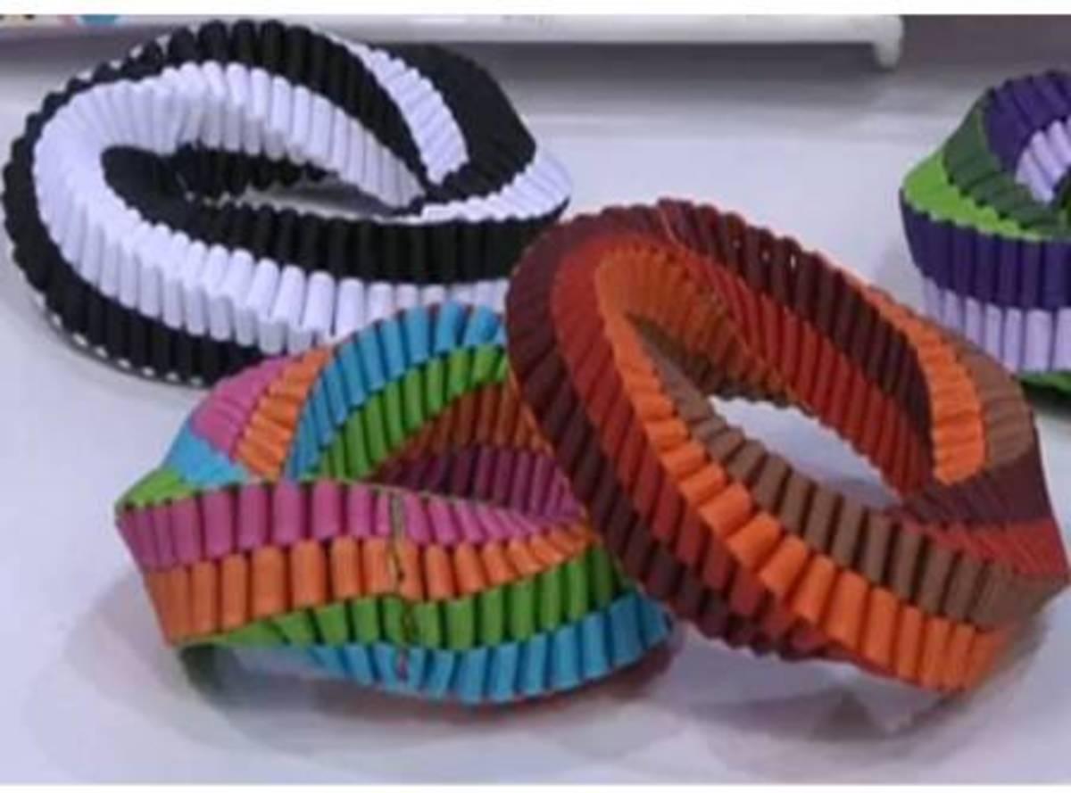 Boxed Stitch Bracelets - colorful & stretchy