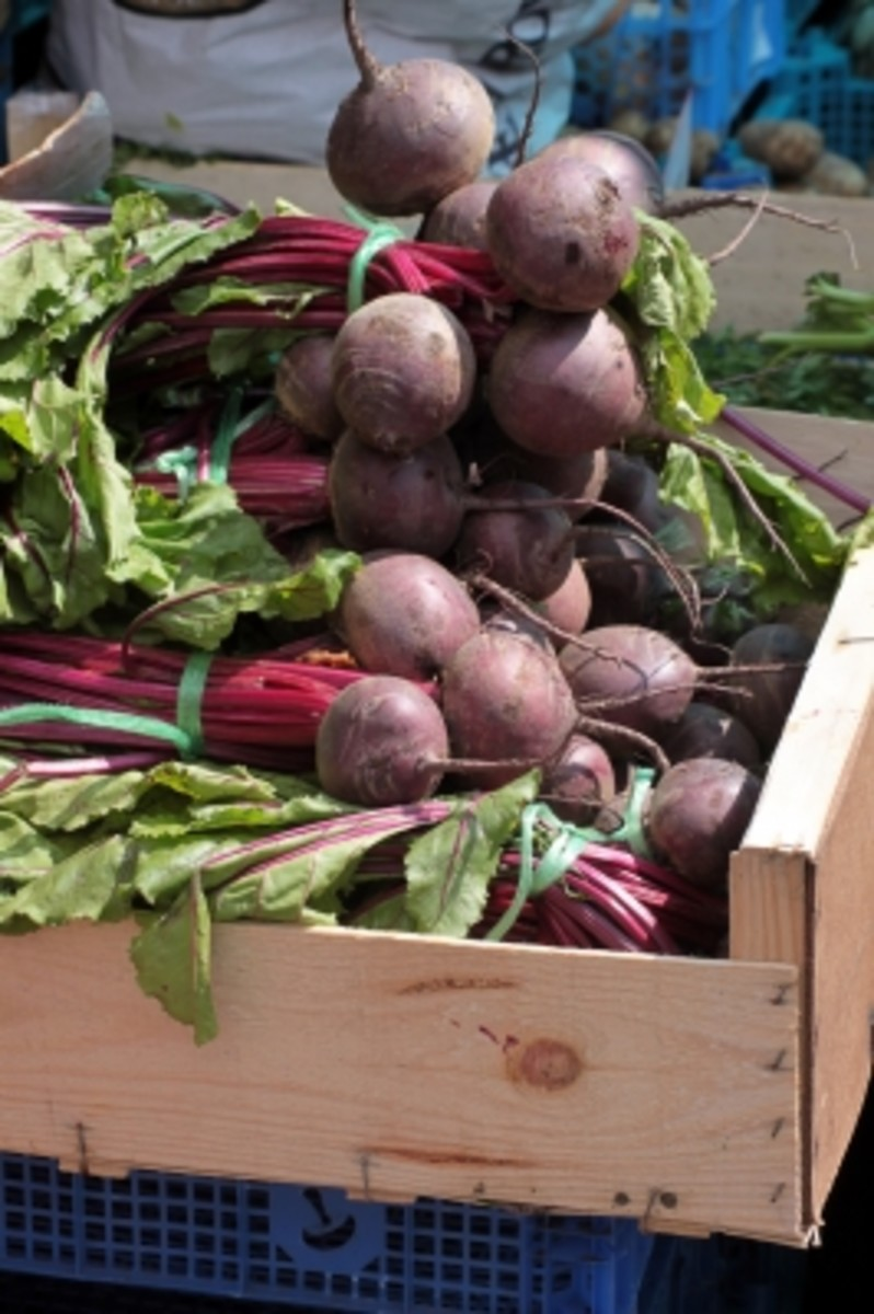 Beets have staining power to create a beautiful homemade dye for Easter eggs, cakes and frosting.