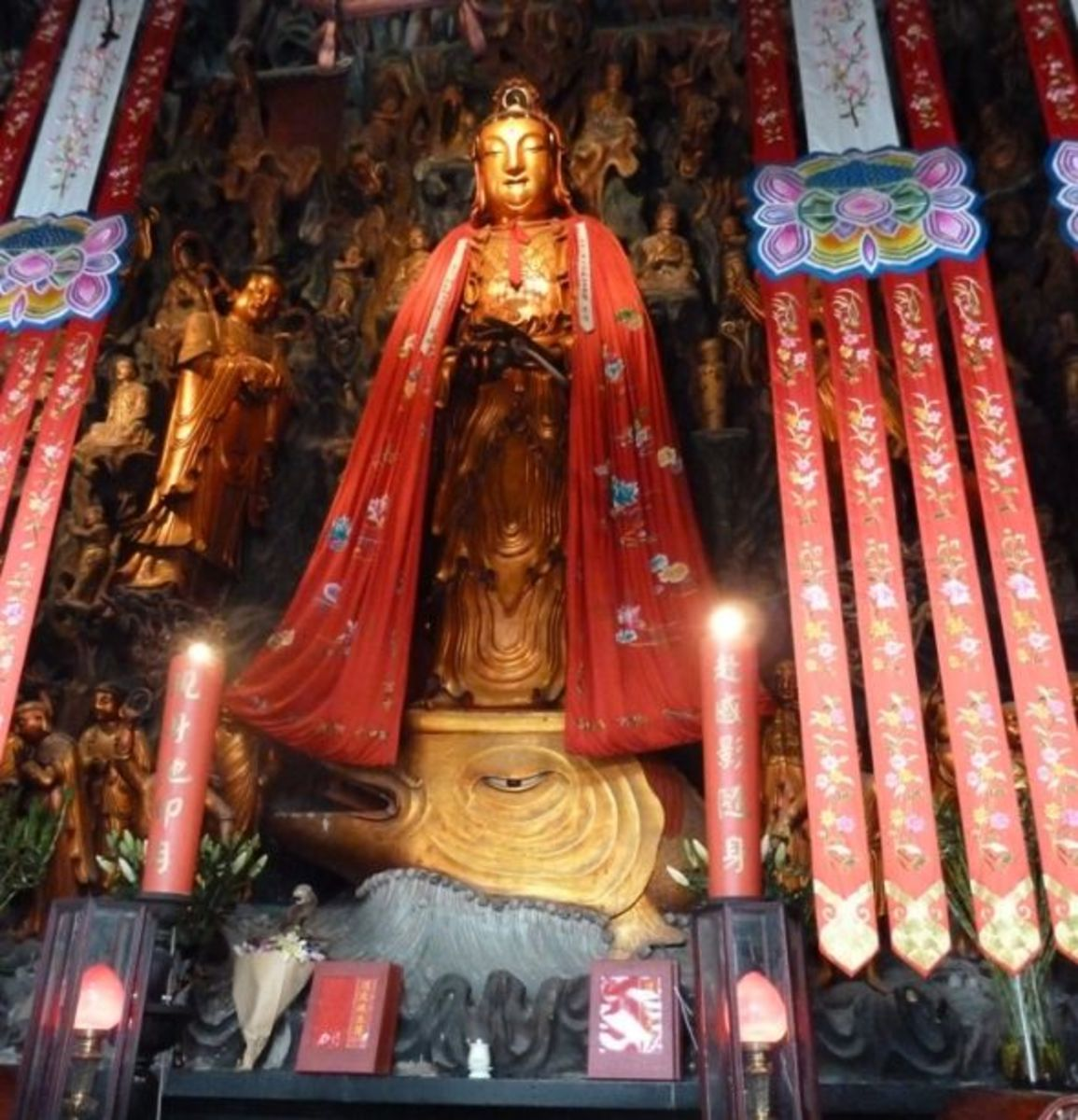 Guanyin Goddess of Mercy and Compassion Jade Buddha Temple Shanghai