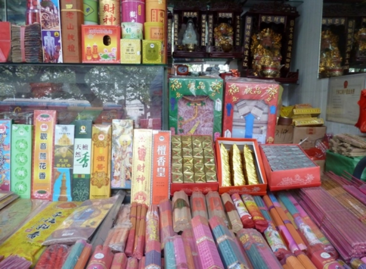 There are lots of different kinds of incense.  You can buy special incense at shops outside the temple, and also some inside the temple in the side corridors of the temple buildings.