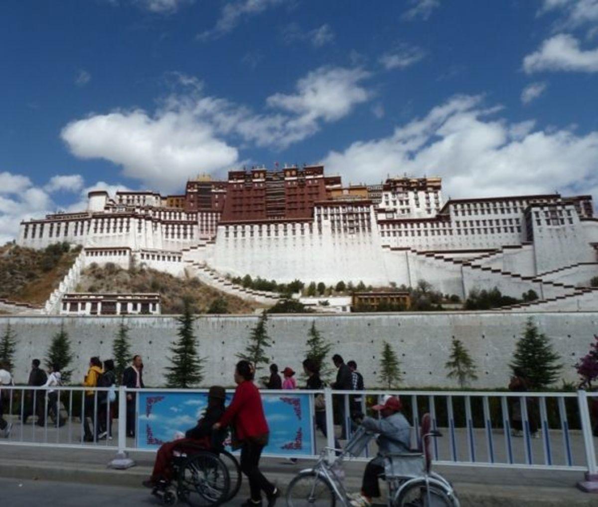 Potala temple wall