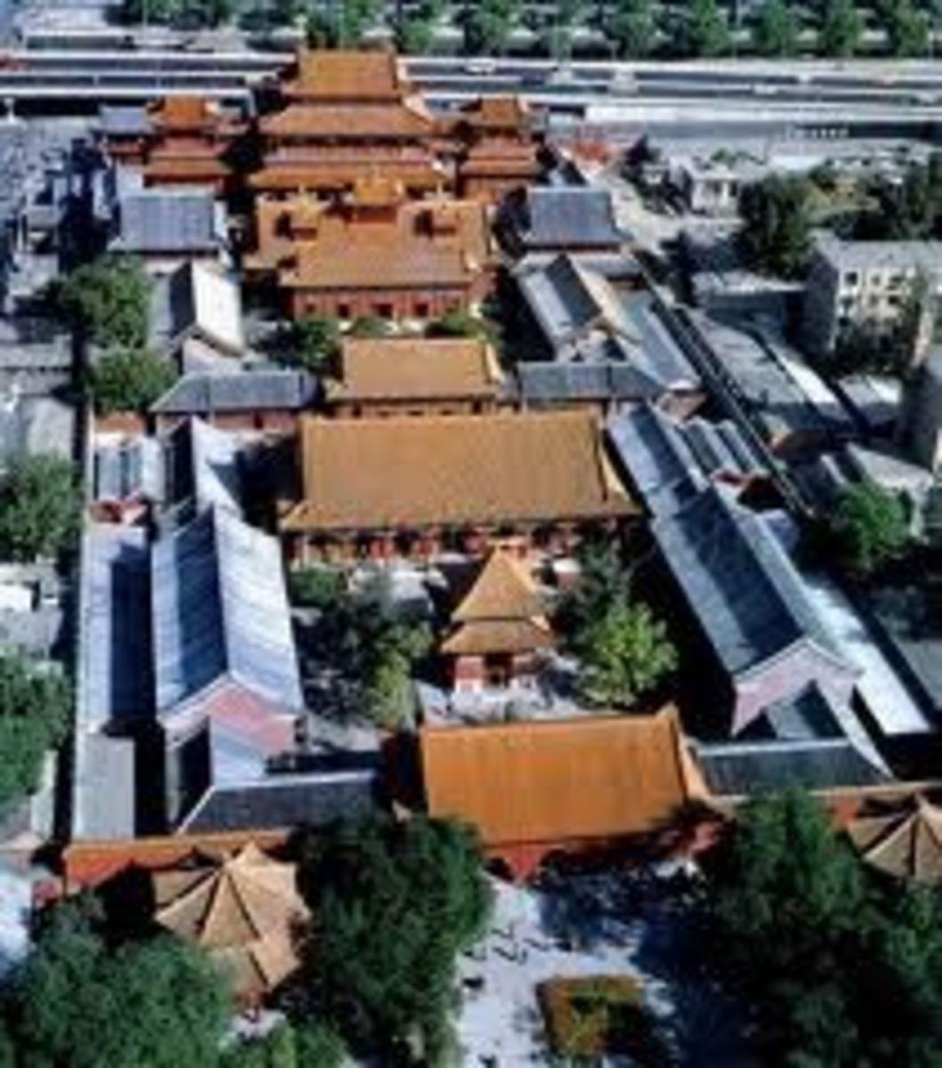Lama Temple layout